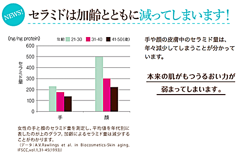 セラミド量の変化グラフ